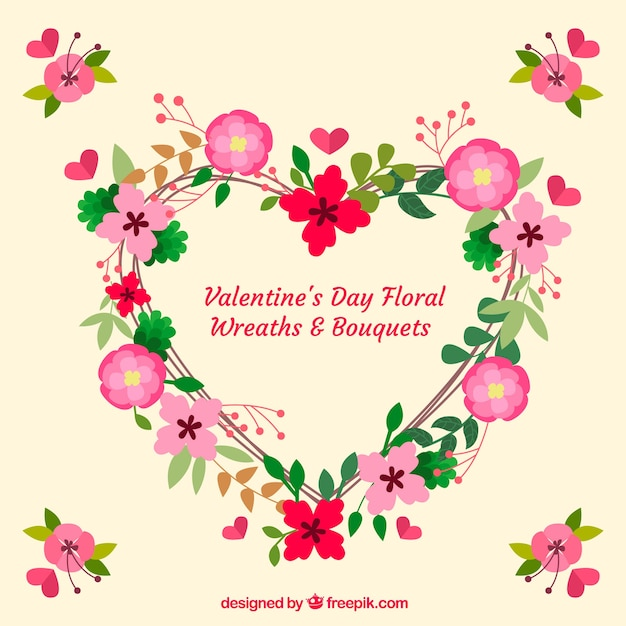 Bouquets and wreaths for valentines day