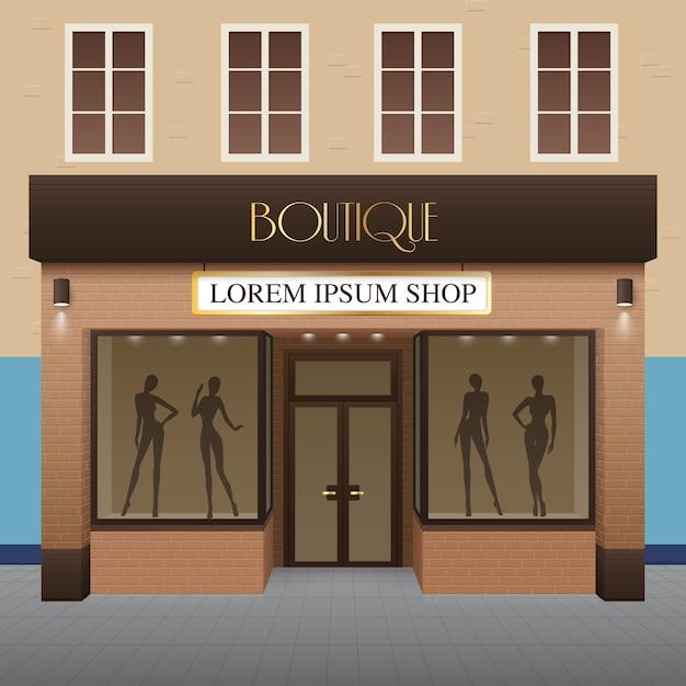 Boutique building illustration Free Vector