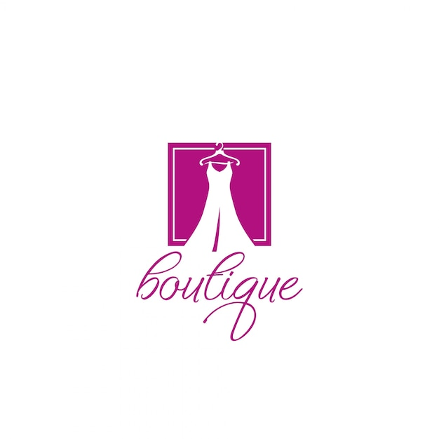 Boutique logo Premium Vector
