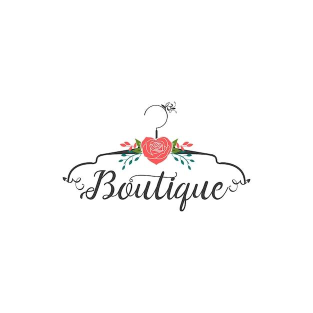 Boutique logo Premium Vector