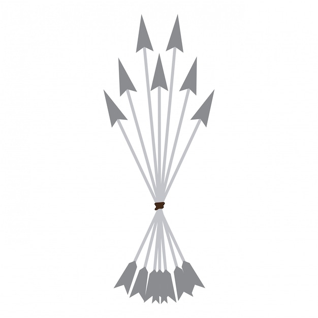 Bow arrows symbol Premium Vector
