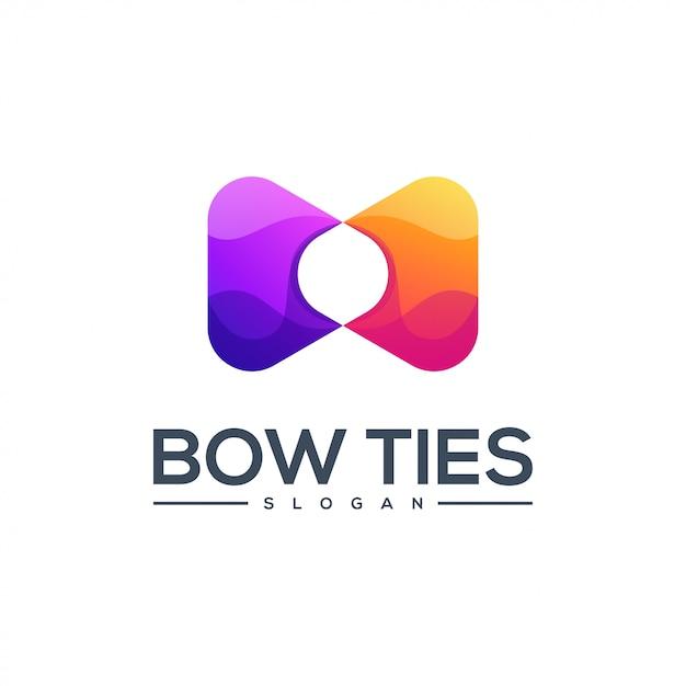 蝶ネクタイのロゴデザインベクトル抽象 Premiumベクター