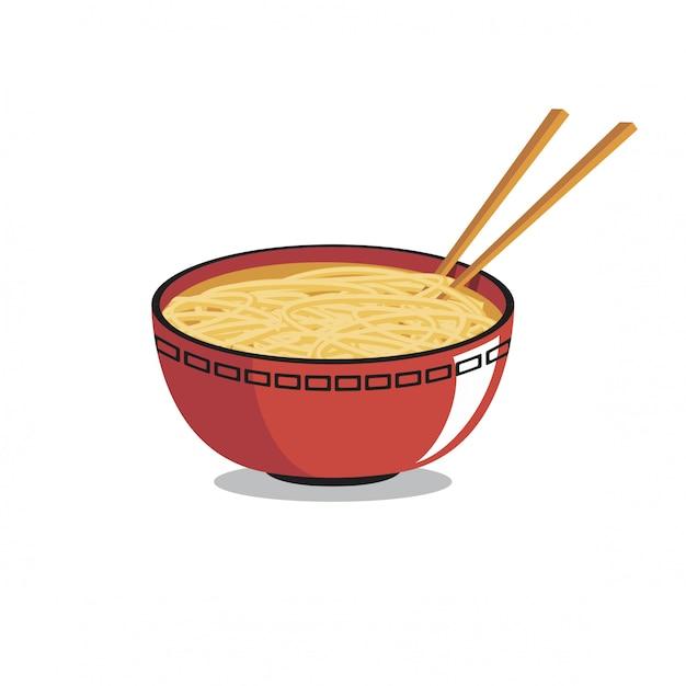 Bowl of ramen vector Premium Vector