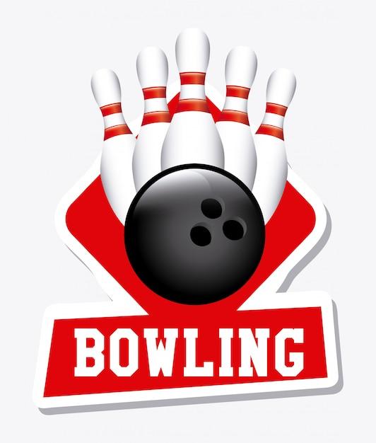 Etichetta da bowling Vettore gratuito