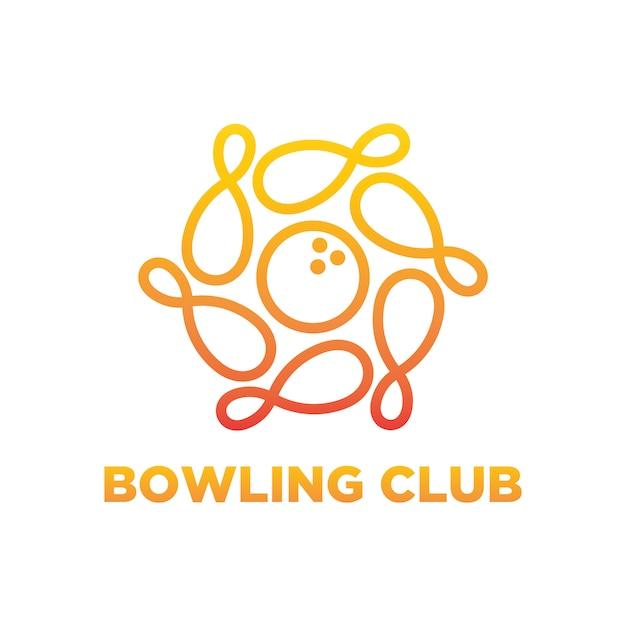 Bowling logo design Premium Vector