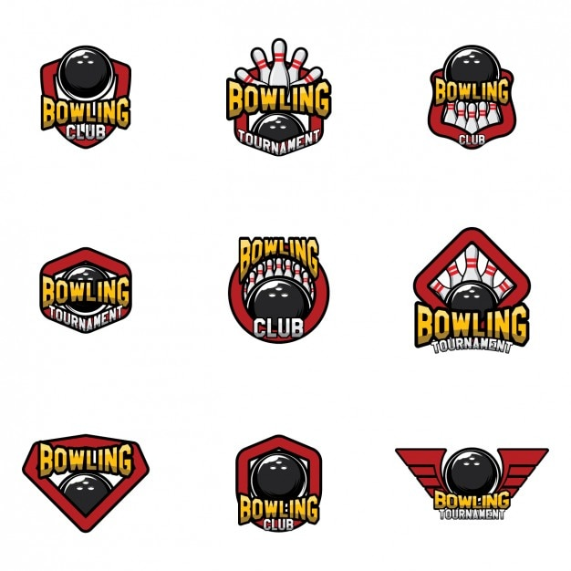 bowling logo templates design vector free download rh freepik com bowling logos for t shirts bowling logos templates