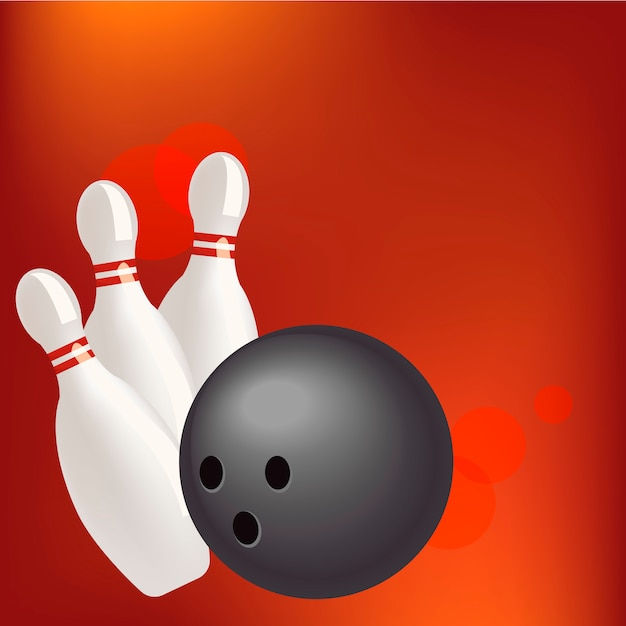 Bowling realistic illustration background Free Vector