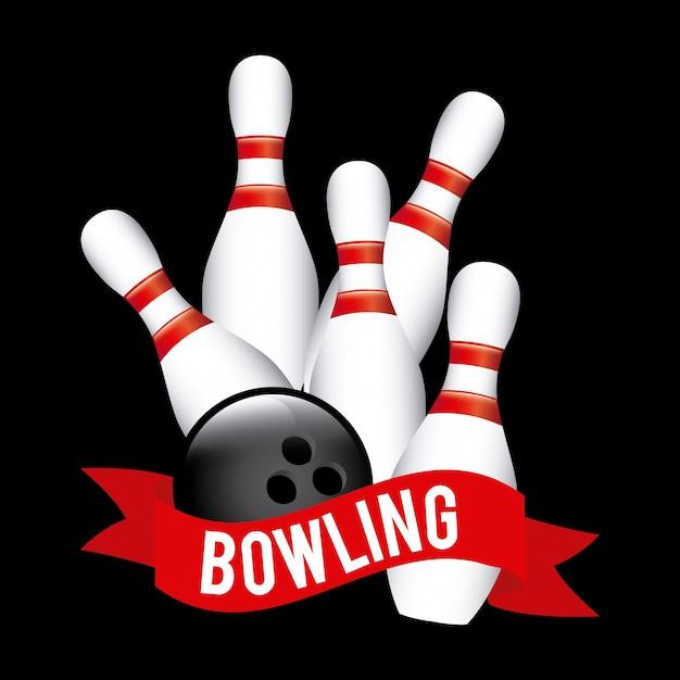 Set da bowling Vettore gratuito