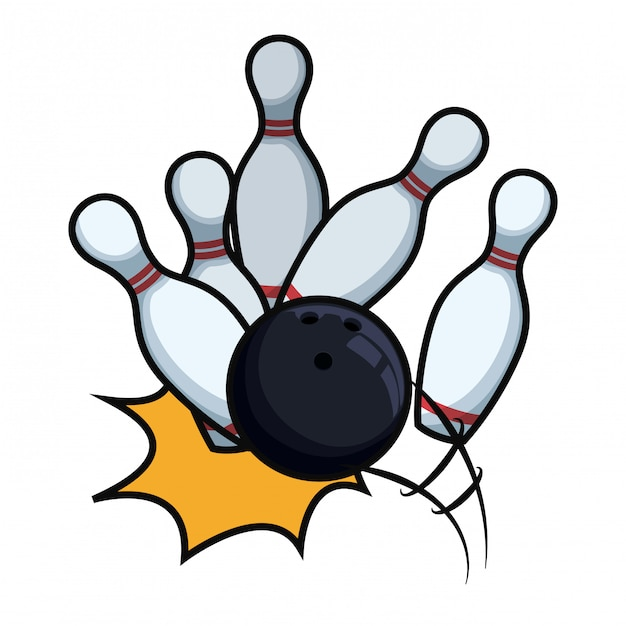 Bowling sport Premium Vector