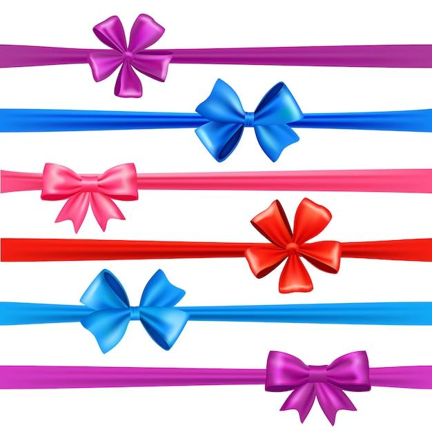 Bows and ribbons set Free Vector