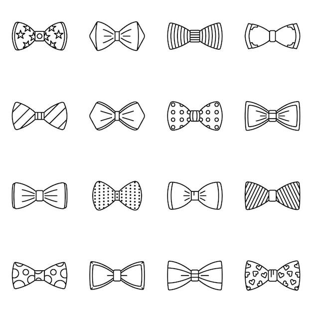 This is a picture of Free Bow Tie Template Printable with silhouette