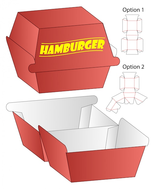 Коробка вырезать шаблон, вырубной дизайн шаблона. Premium векторы