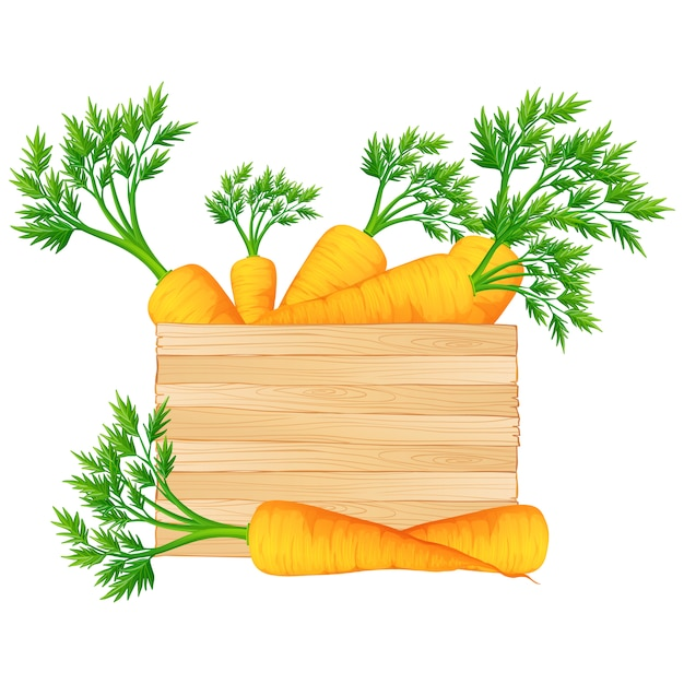 Box full of carrots design Free Vector