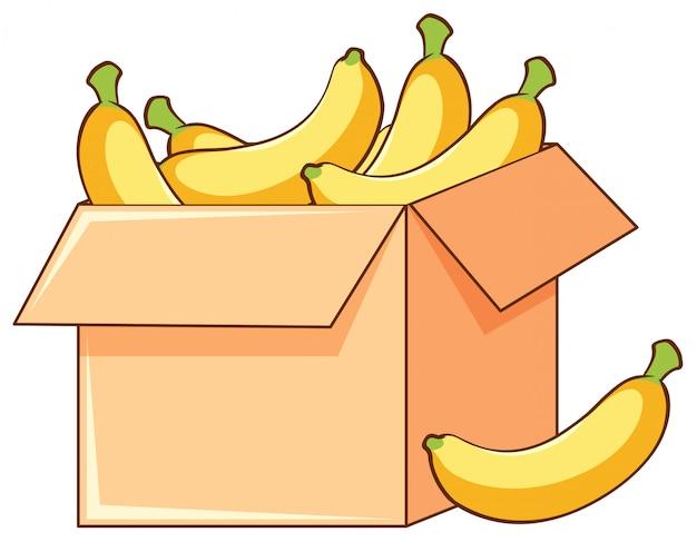 白のバナナの箱 無料ベクター