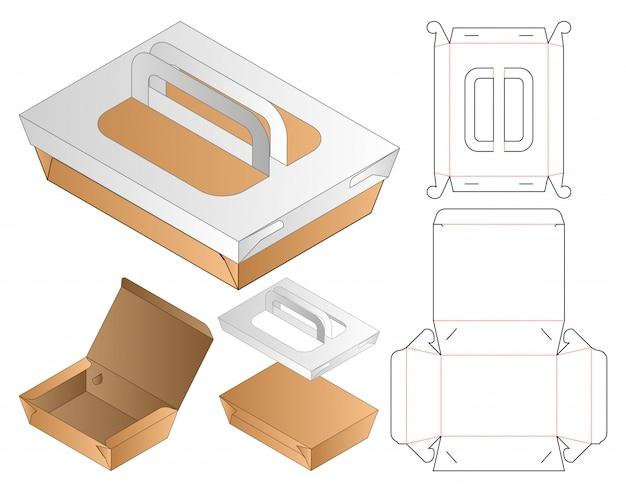 Box packaging die cut template  . 3d Premium Vector