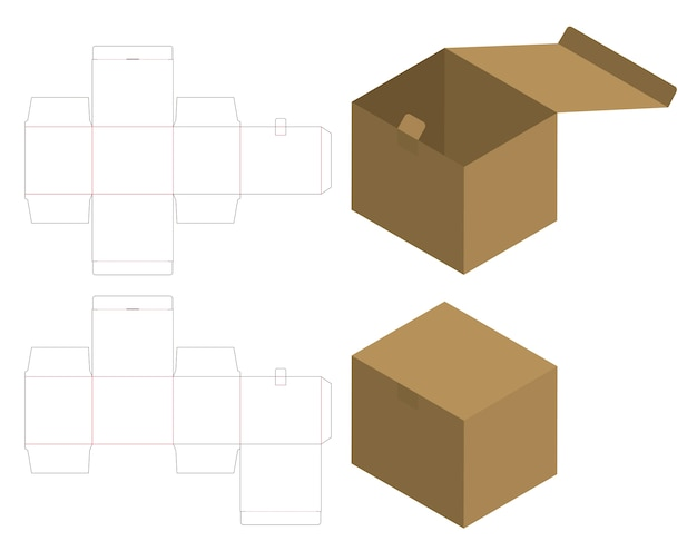 Box packaging die cut template design. Vector | Premium Download