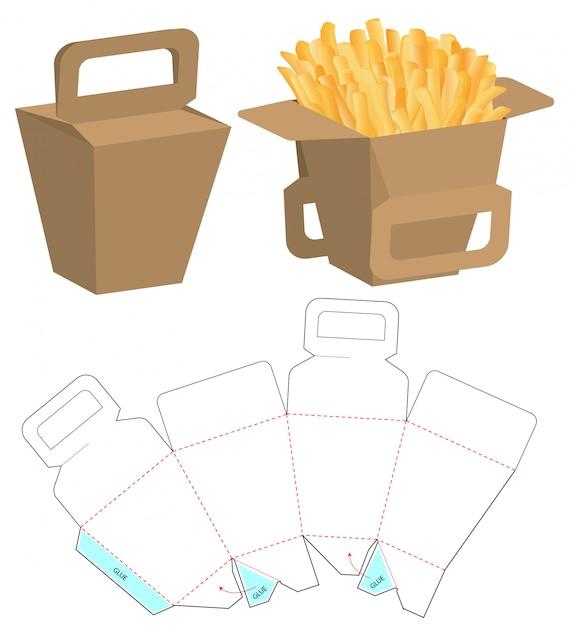 Box packaging die cut template design Premium Vector