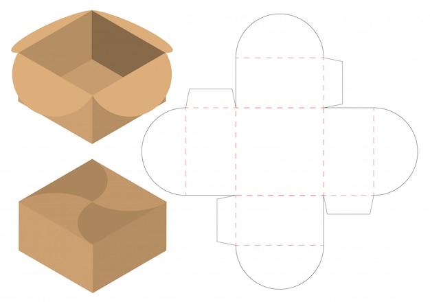 Box Packaging Die Cut Template Design Vector
