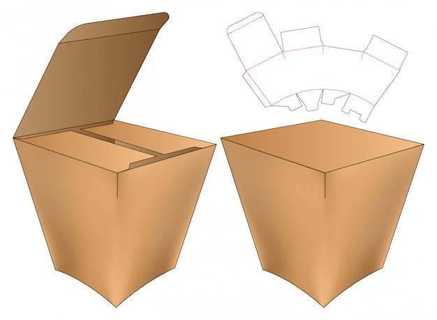 Box packaging die cut template design. Premium Vector