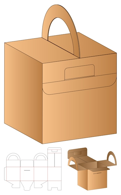 Bao bì hộp thiết kế mẫu cắt bế. Véc tơ cao cấp