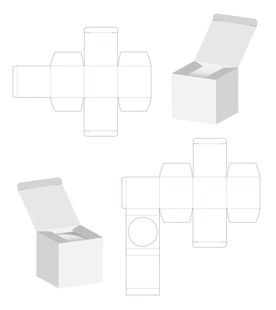 box packaging die cut template design vector premium download