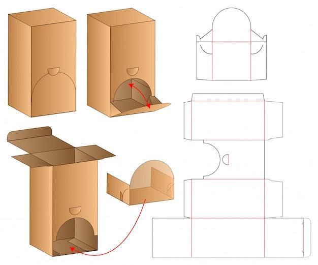 Box packaging die cut template Premium Vector