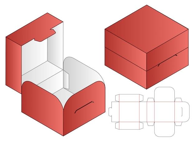 ボックス包装ダイカットテンプレート Premiumベクター