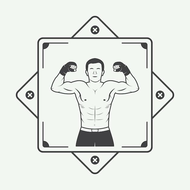 Boxer logo Premium Vector