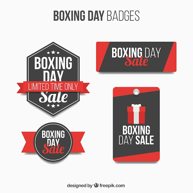 Boxing day badge collection