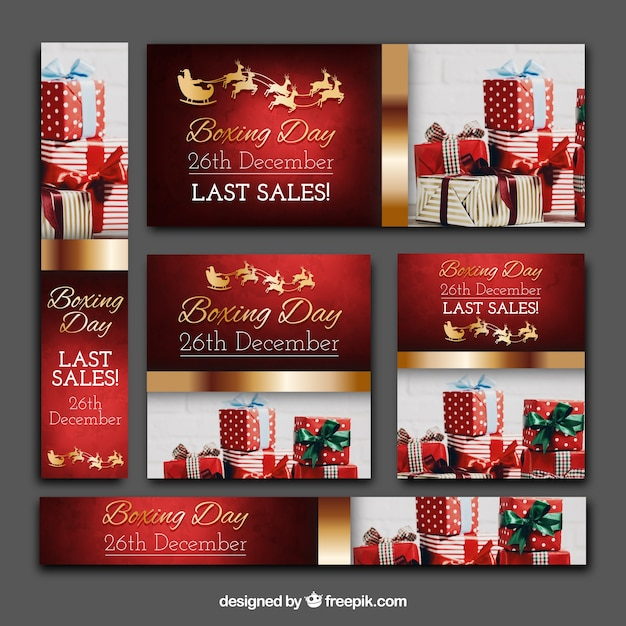 Boxing day banners pack