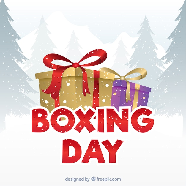 Boxing day discounts background