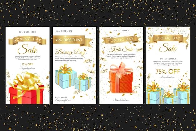 Шаблон рассказов instagram день подарков Бесплатные векторы