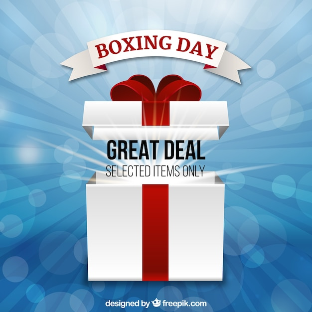 Boxing day's great deal on selected items Free Vector