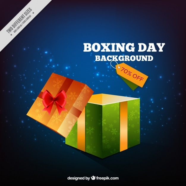 Boxing day sale background in realistic\ style