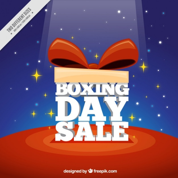 Boxing day sale background with red bow