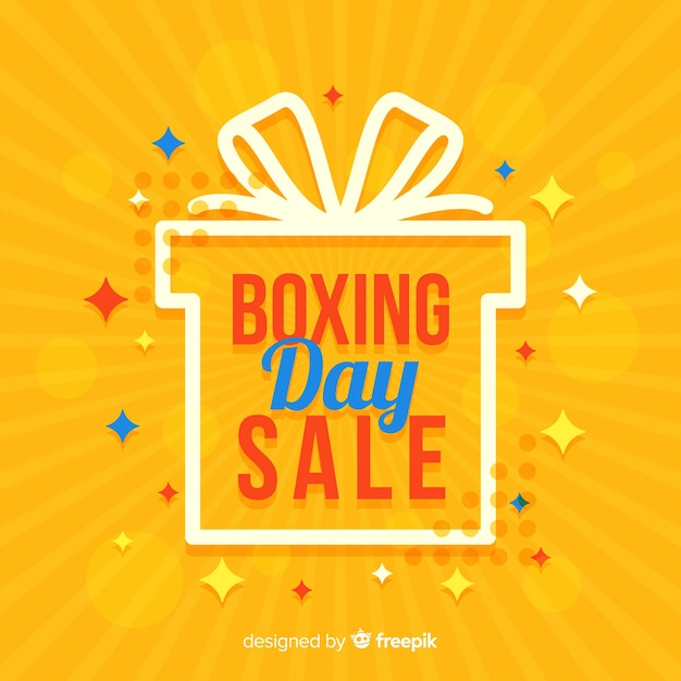 Boxing day sale background Premium Vector