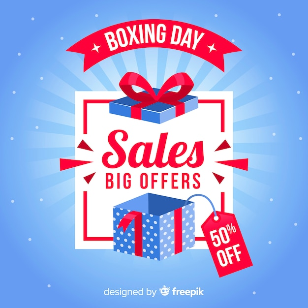 Boxing day sale background Vector | Free Download