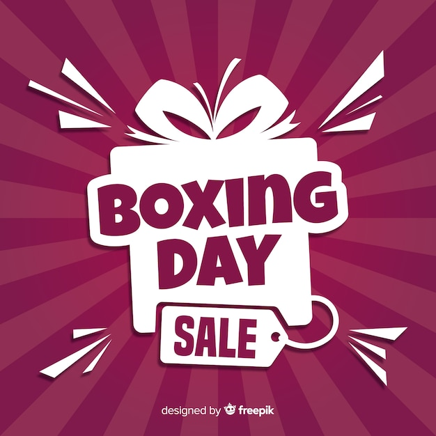 Boxing day sale background Free Vector