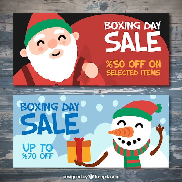 Boxing day sale banner pack