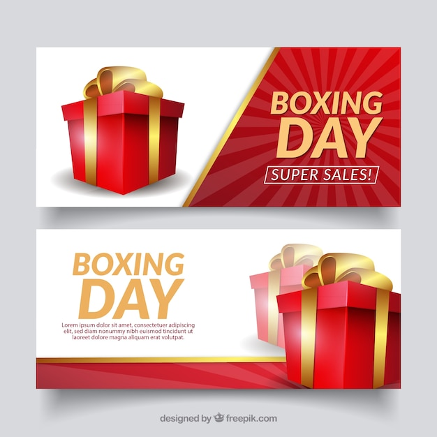Boxing day sale banner Free Vector