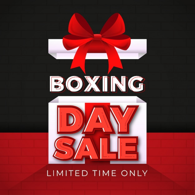 Boxing day sale banner Premium Vector