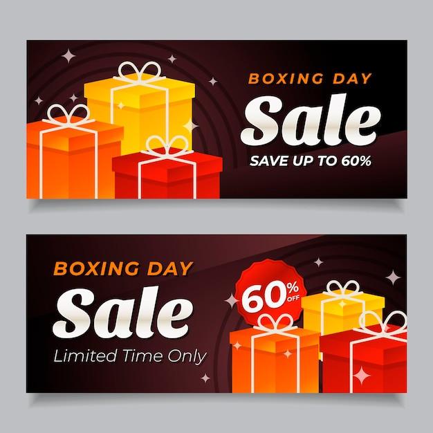 Баннеры продажи дня подарков в плоском дизайне Бесплатные векторы