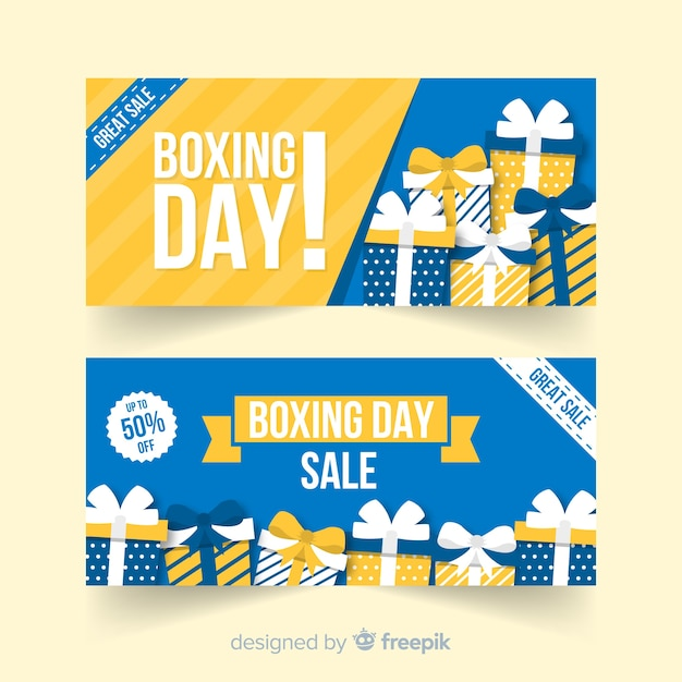 Boxing day sale banners Free Vector