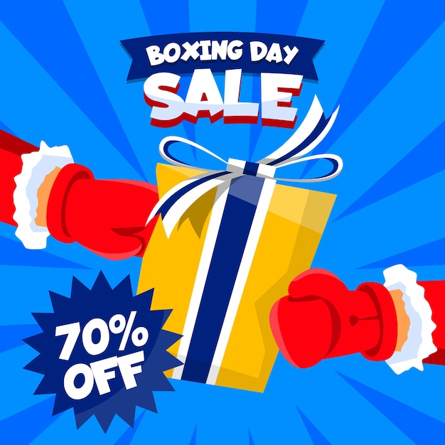 Boxing day sale concept in flat design Free Vector