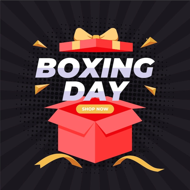 Boxing day sale in flat design Free Vector