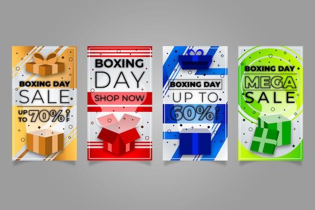 Боксерский день продажи инстаграм сборник рассказов Бесплатные векторы