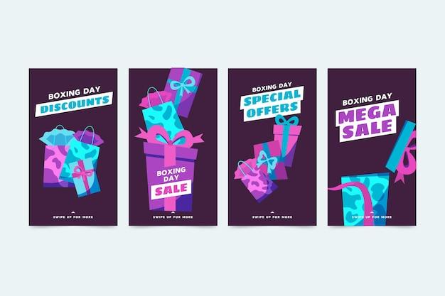 Коллекция историй продаж instagram Бесплатные векторы