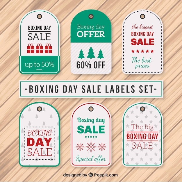 Boxing day sale labels set