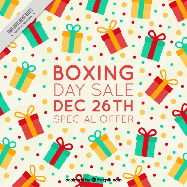Boxing day sale special offer background