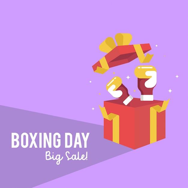 Boxing day sale web banner illustration Premium Vector